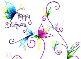 Рисувана картичка за рожден ден