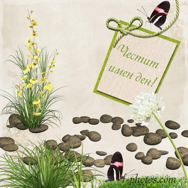 Картичка с пеперуди за имен ден