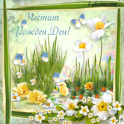 Пеперуди и цветя за рожден ден