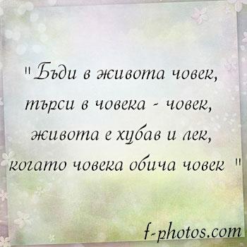 мисли за живота и любовта