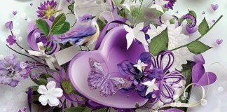 Картичка с цветя за 8-ми март