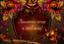 Приятна вечер и лека нощ