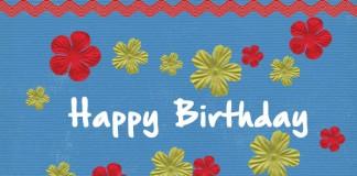 Синя картичка за рожден ден