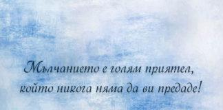 Щастието обича тишината